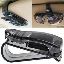 Car Sun Visor Glasses Sunglasses Ticket Receipt Card Clip Storage Holder Balck