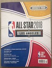 2017 2018 NBA ALL STAR GAME GAME PROGRAM  LOS ANGELES CURRY DURANT LE BRON