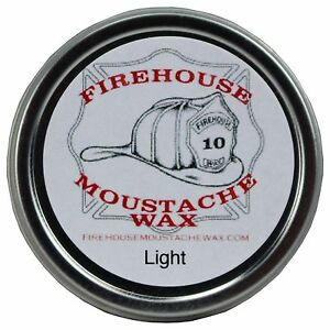 Firehouse Moustache Wax 1 oz - Light, Strong Hold Free Shipping, Made in the USA