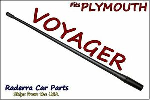 """FITS: 1997-2000 Plymouth Voyager - 13"""" SHORT Custom Flexible Rubber Antenna Mast"""