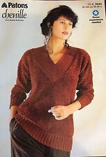 "DK.   patons Knitting Pattern Ladies Sweater Jumper Size 30/40"""