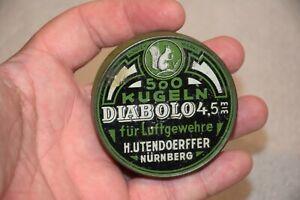 Vintage Diabolo Kugeln Luftgewehre4,5mm Pellets Empty Tin 500 Units Tin