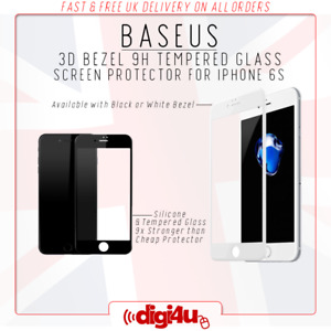 Baseus 3D 9H Curved Fit Tempered Glass Screen Protector for Apple iPhone 6 & 6s
