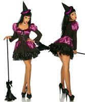 Hexe Kostüm Halloween Damen Hexenkostüm Hexen Zauberin Magierin Gr S-M