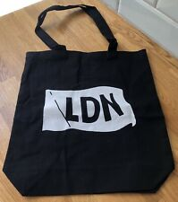 LDN Black Canvas Tote Bag Shopper