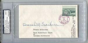 Branch McCracken Basketball HOF Indiana U Signed Envelope Postal Cover PSA/DNA