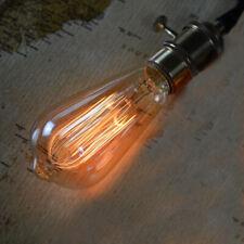 B22 Vintage Edison ST64 Tear Drop Squirrel Cage Filament 40W DIMMABLE Light Bulb