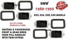 Front&Rear Left+Right Side Inner Door Pull Handles With Trim Covers Set For BMW