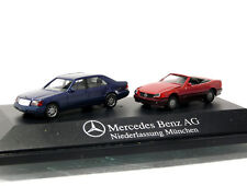 Herpa PKW MB 600 SEL + MB 500 SL  Mercedes Benz Auto 92 München  1/87 H0 OVP