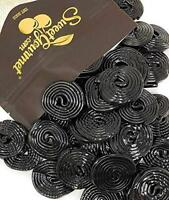 Italian Black Licorice Wheels | Bulk Candy | Natural Colors and Flavors, GMO