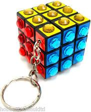 Rhinestone Rubiks Cube Key Ring Rubix Cube Keyring Rubic Cube Square Mind Puzzle