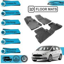 3D Molded Interior Car Floor Mat for Ford S-MAX 2006 -2015(Black)