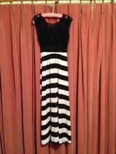 Stripes Casual Dresses for Women with High Waist