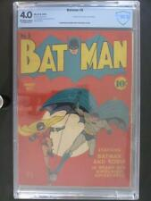 Batman #6 - CBCS 4.0 VG - DC 1941 - 1st App & Death of Clock Maker - Golden Age!
