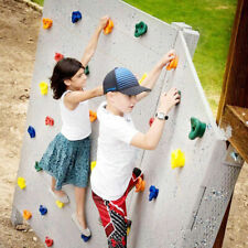 10 Pcs/lot Stones Plastic Kids Hand Feet Holds Grip Rock Climbing Wood Wall