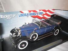 """Ricko  Lincoln  Model  K  """"1931""""  (dunkelblau-schwarz)  1:18  OVP  !!"""