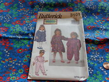 MCCALLS BUTTERICK PATTERN SEW LITTLE GIRLS SIZE 4-6 DRESS AND JUMPSUIT 3101 UNCU