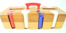 Wood Card & Poker Chip Carrier w/ Poker Chips