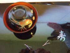 Japan Esskultur 2 Stück Tabletts mit Suppenschalen mit Roiro Lack und Intarsien