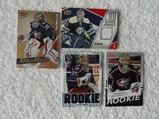 Steve Mason 2011/12 Upper Deck Game Jersey Card & THREE !! 2008/09 Rookie Cards