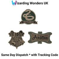 Official Harry Potter Enamel Pin Badge Set Slytherin Hogwarts Crest Gift
