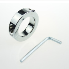 Steel Plated Metal Scrotum Testicle Lock Ring Time Delay Weight 140G