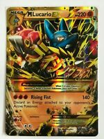 MEGA Lucario EX SECRET ULTRA RARE 113/111 XY Furious Fists Pokemon GOLD NM HOLO