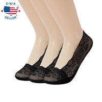 New Anti-slip Silicone Lace Invisible No Show Low Cut Liner Boat Socks For Women