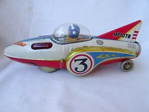 Antique China Toy Space Boat ME-078 Battery Operated Tin Toy 60's