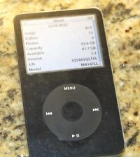Apple iPod Classic 5th Generation Black 60GB, a1136, strong battery, works great