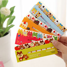 120Pages Cute Animal Sticker Post-It Bookmark Marker Memo Index Tab Sticky Note