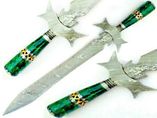 Stunning Handmade Damascus Sword With Gorgeous Guard & Handle