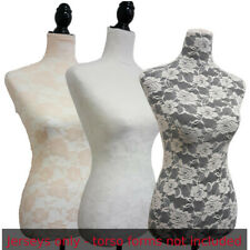 3 colors lace/Jerseys, to cover female mannequin torso,to renew dress form-sizeS