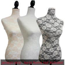 3 Colors Lacejerseys To Cover Female Mannequin Torsoto Renew Dress Form Sizes