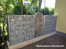 Dekoplatte Naturstein für Gabione Sichtschutzwand Gartenzaun Lärmschutzwand NEU