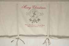 MERRY CHRISTMAS Rollgardine 100/120/140/160 Raffrollo Franske Vintage Shabby