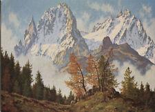 Alte Kunstpostkarte -  W. Deventer - Montblancgruppe bei Chamonix