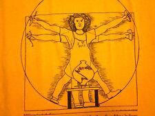 CAMBRIDGE POTTERY FESTIVAL shirt small T shirt Da Vinci parody tee Vitruvian Man