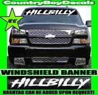 HILLBILLY Danger F150 F250 Ford GMC Confederate Redneck Decal 3D Sticker Emblem