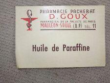 Scrabooking N°1 (huile de paraffine )  20 d'anciennes Etiquettes Pharmacie