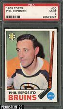 1969 Topps Hockey #30 Phil Esposito Boston Bruins PSA 9 MINT