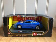 Burago Bugatti EB110 (1991) Blue 1:24 Cod.1535
