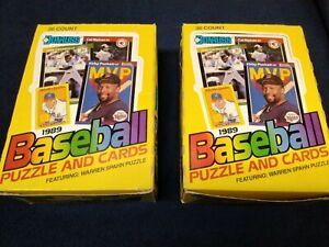 Lot of 2 1989 Donruss Wax Box Unopened