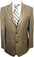 Michael Kors Macy's Men's Blazer Sport Coat Jacket Size 40 R  Brown Houndstooth