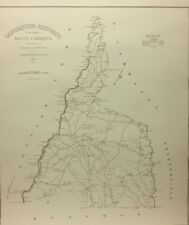 """LANCASTER  District Map of South Carolina (Robert Mills1820) ~19"""" X 24"""""""