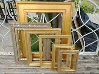 Vintage 6 Lot Gold Ornate PICTURE FRAME Recycle Art Craft Deco Estate Sale
