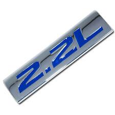 CHROME/BLUE METAL 2.2L ENGINE RACE MOTOR SWAP EMBLEM BADGE FOR TRUNK HOOD DOOR