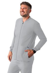 Adar Addition Scrubs For Men - Zippered Bomber Scrub Jacket