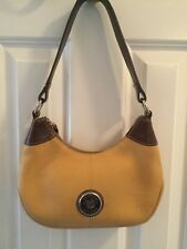 Vtg.DOONEY & BOURKE All Weather Pebbled Leather mustard yellow hobo purse