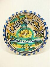 "Antique 19th C. Spanish Triana Earthenware Lebrillo Bowl (10"" Diameter) Rare!"